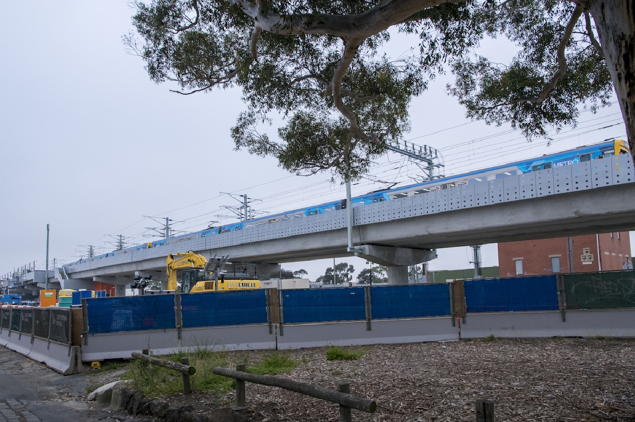 Landscape works continuing along the Upfield Line
