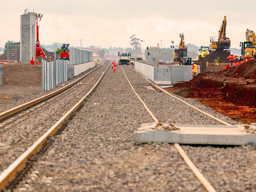 Early station construction work