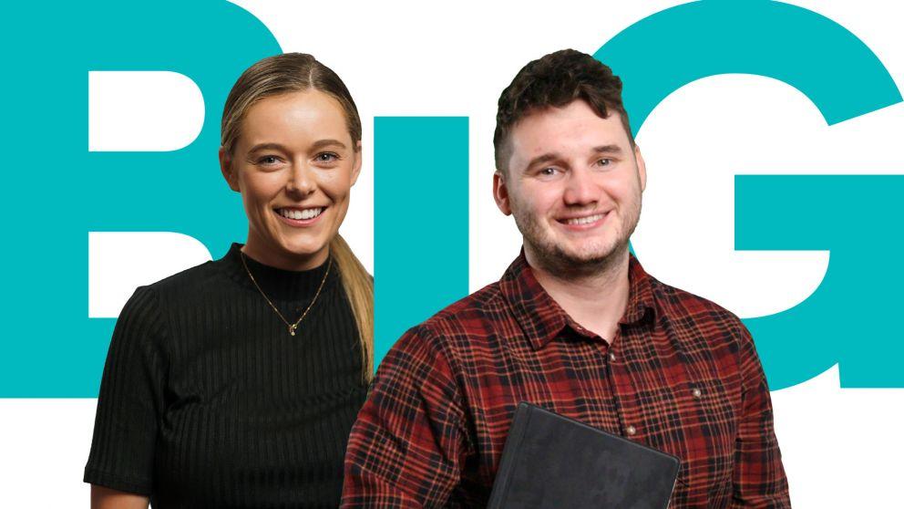 One female and one male participant in the Victoria's Big Build Graduate Programs.