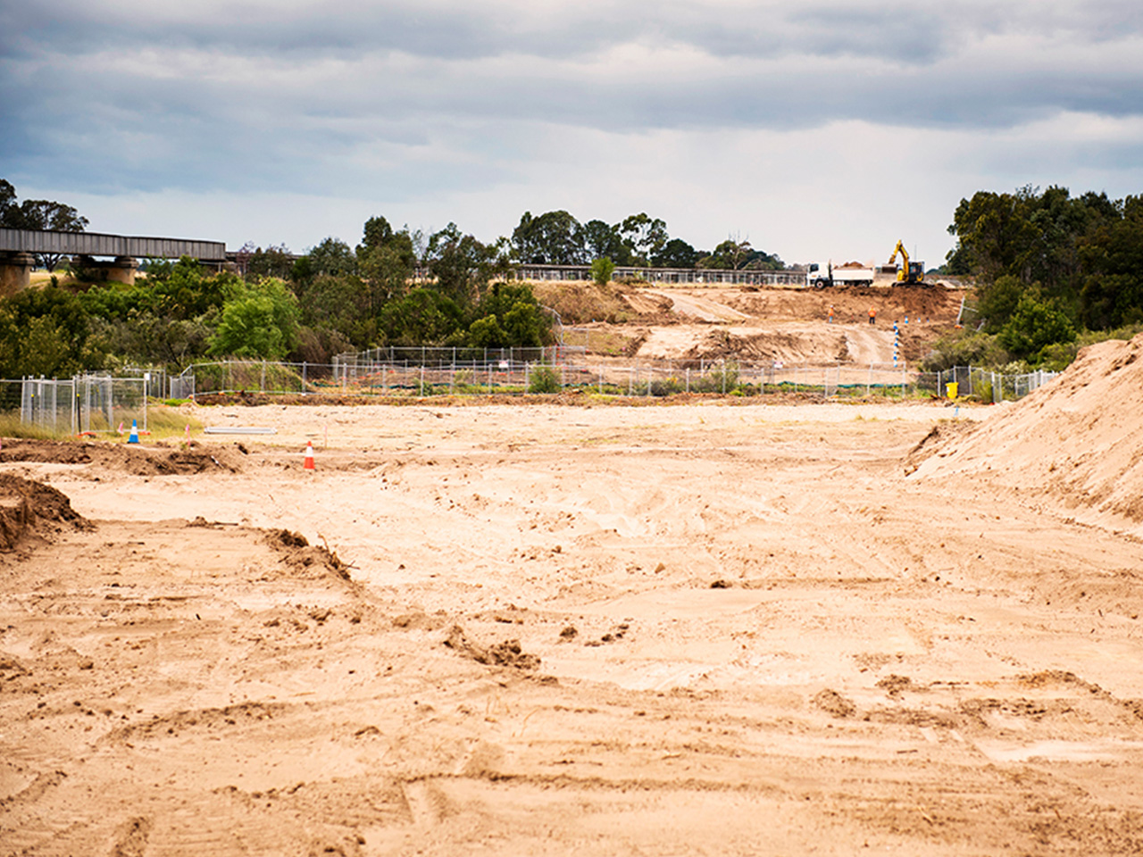 Construction begins with ground works