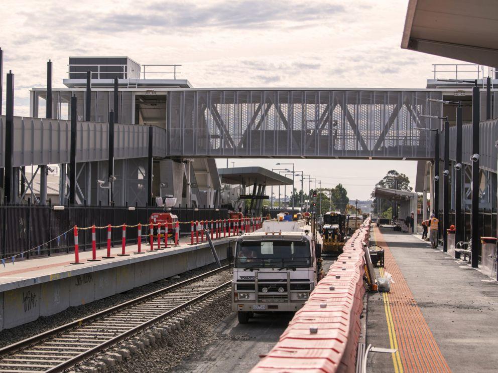 Construction work at Wendouree Station