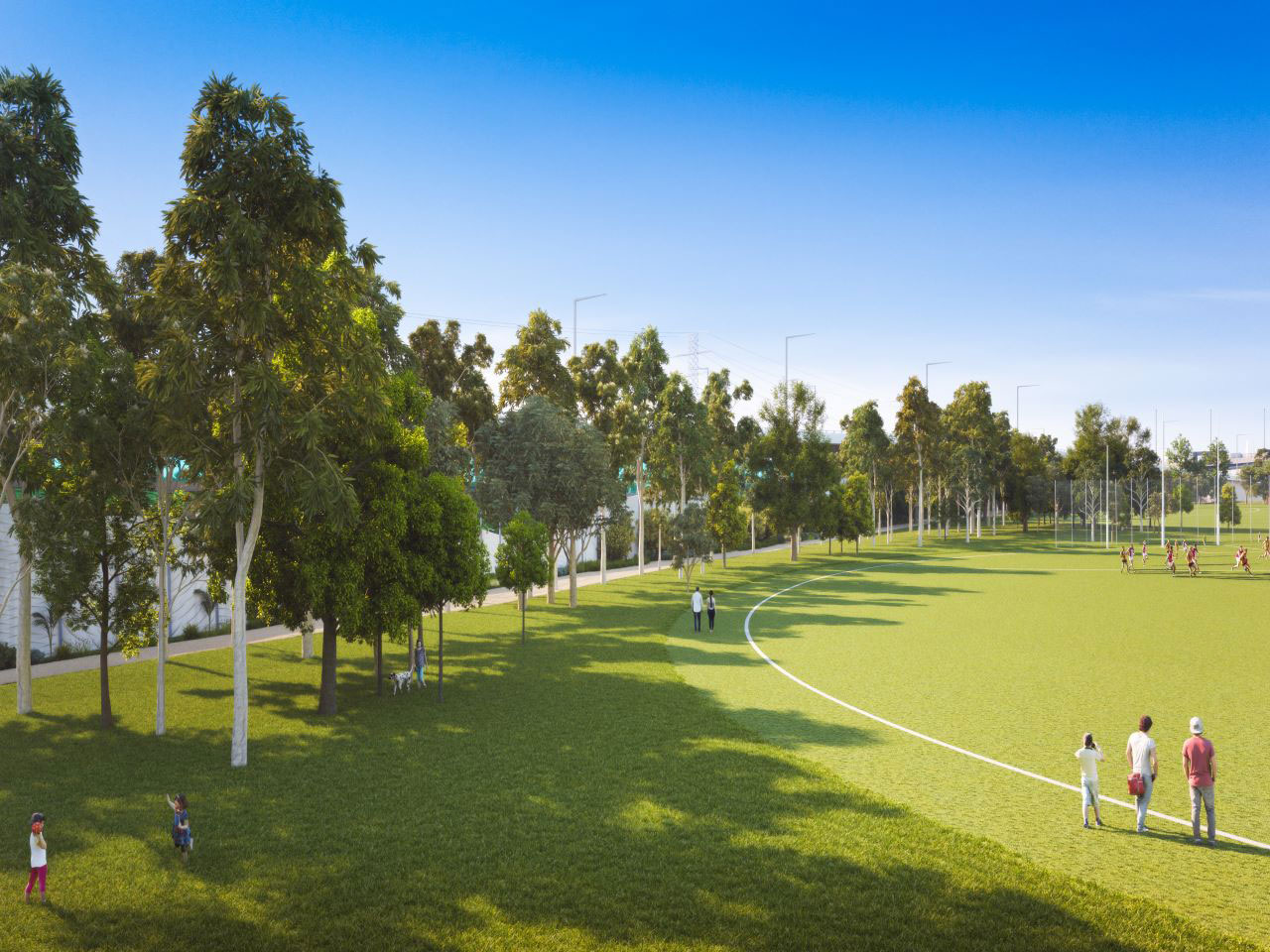 The revitalised Don McLean Reserve, Spotswood. Artist impression only - does not include detailed design.