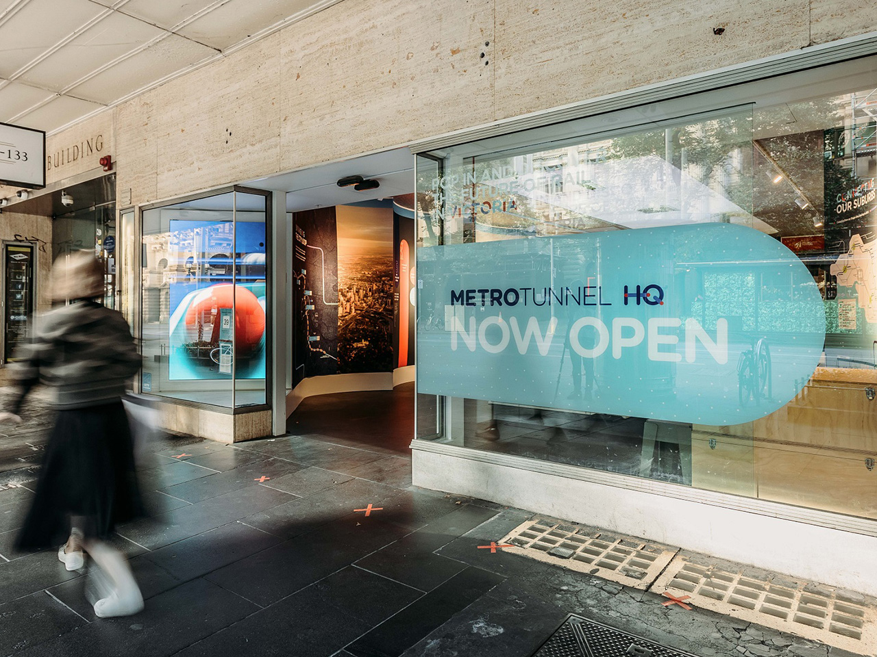 The Swanston Street shop front for Metro Tunnel HQ