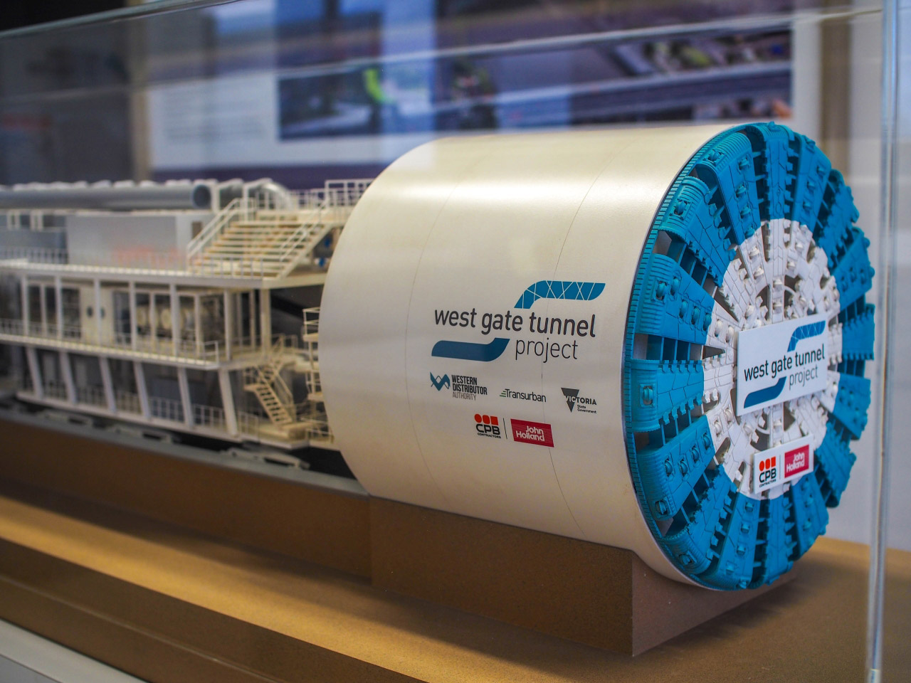 Photo of the TBM model at the information centre