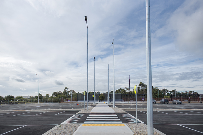 The completed new car park at Donnybrook Station