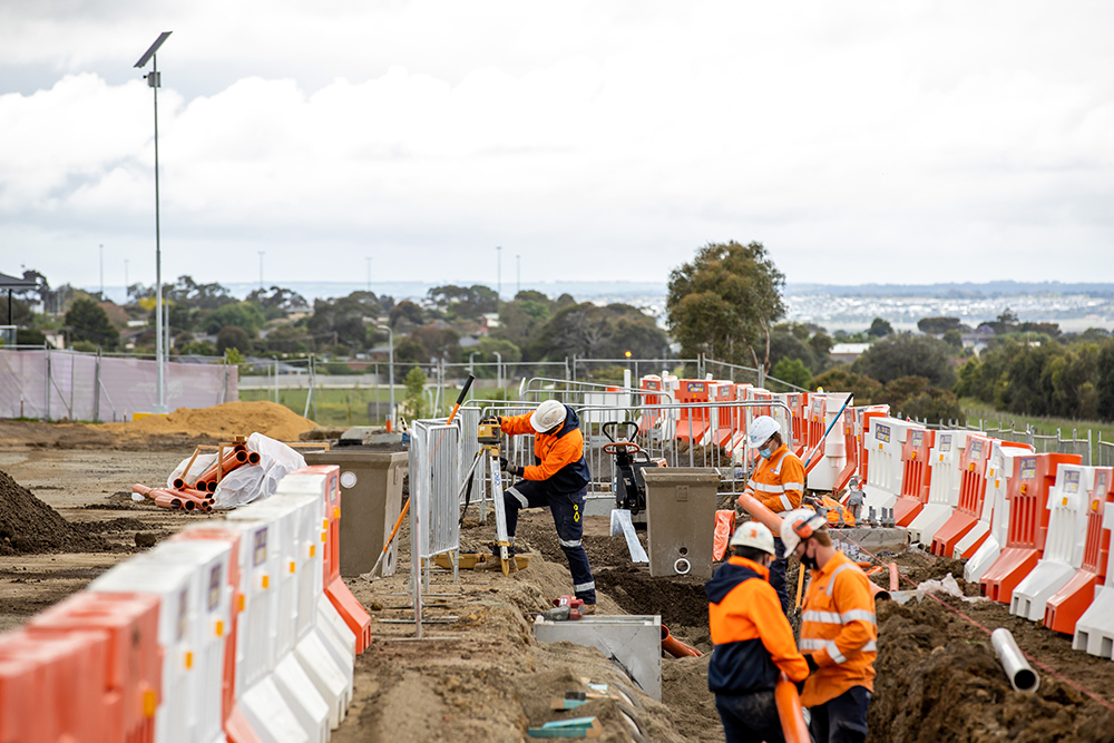 Construction works for the Waurn Pond Station upgrade