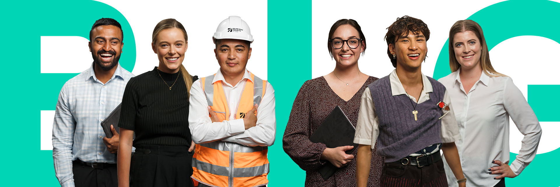 Five participants in the Victoria's Big Build Graduate Programs