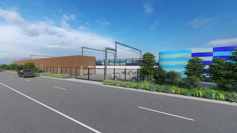 Render of West Footscray substation, concept only.