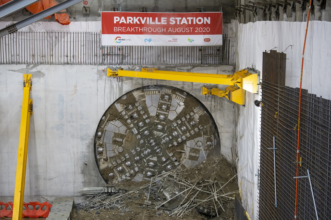 TBM Joan breaks through at Parkville