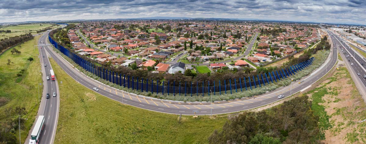 Aerial photo of the upgraded M80 in Melbourne