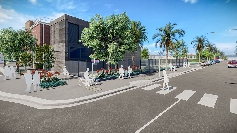 Artist's impression of the substation in Footscray.