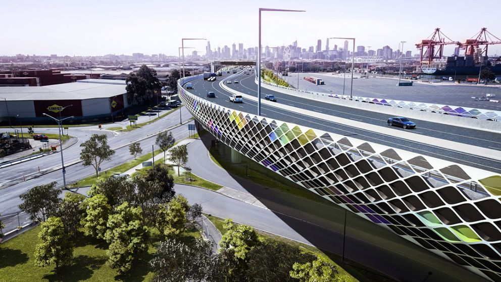 An artist's impression of the new elevated roadway.