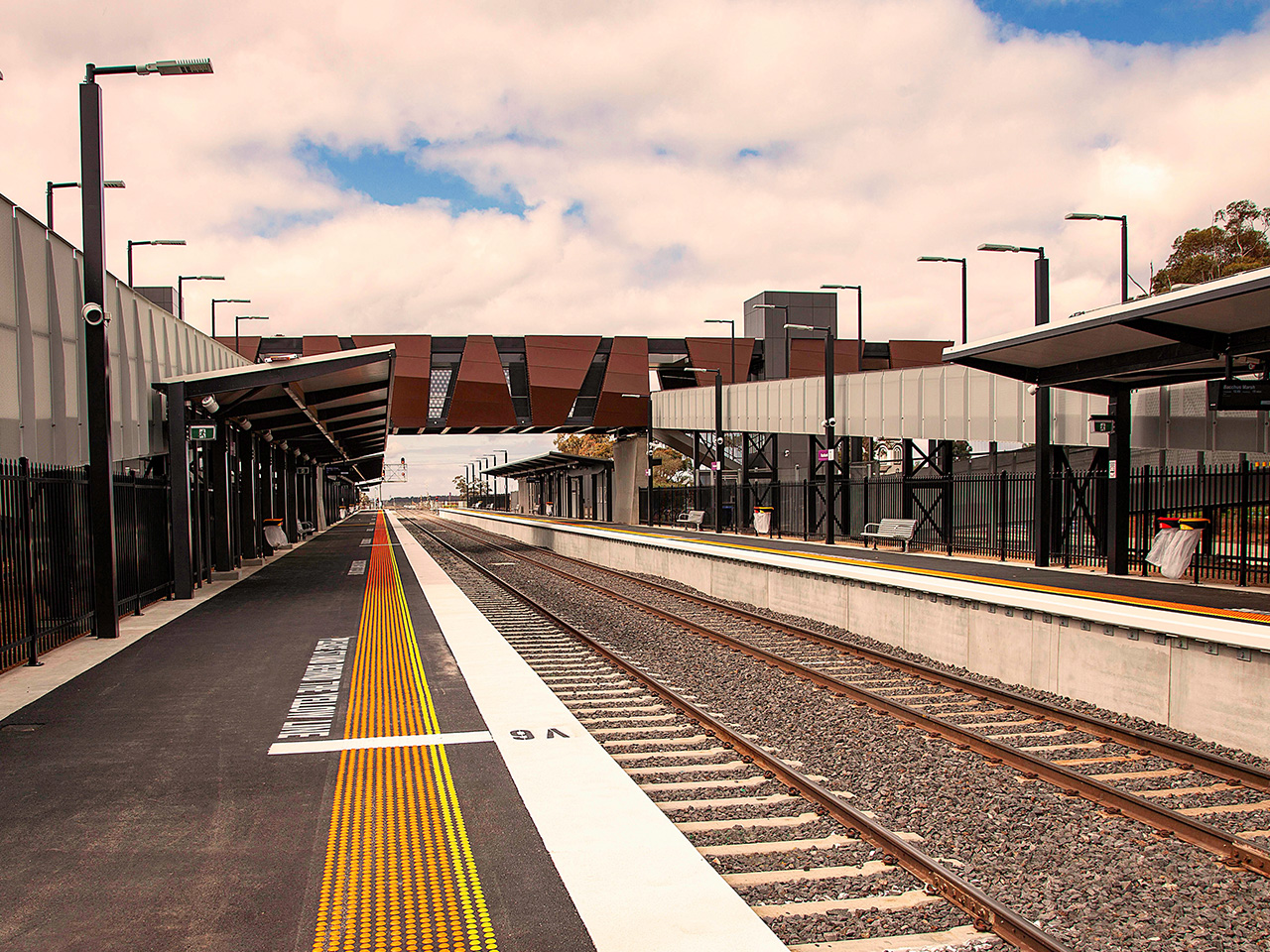 The new Rockbank Station in use