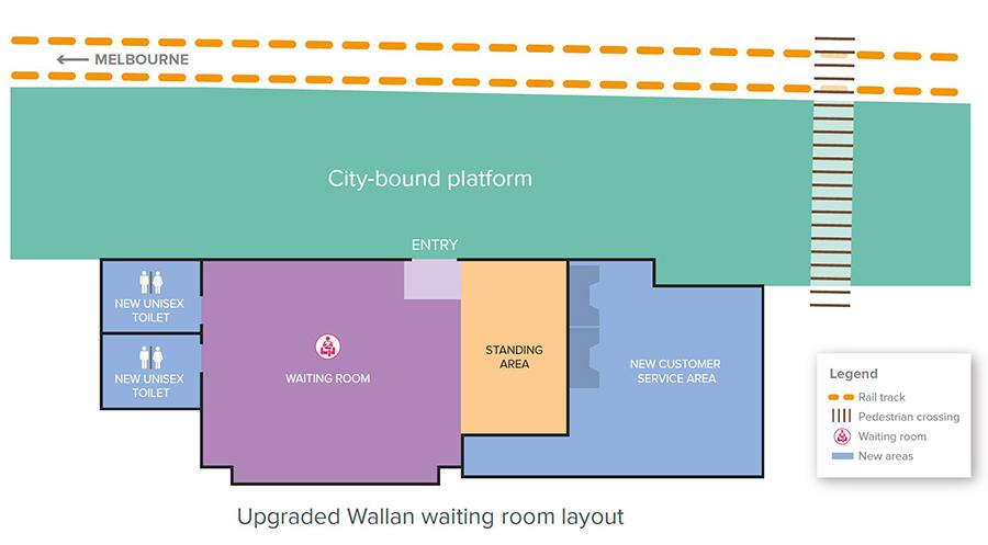 Image of Wallan station map
